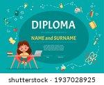 diploma certificate for kids or ...   Shutterstock .eps vector #1937028925