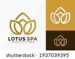 luxury line art lotus spa logo... | Shutterstock .eps vector #1937039395