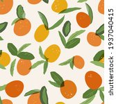 seamless pattern with oranges.... | Shutterstock . vector #1937040415