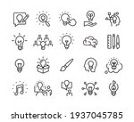 creativity icons   vector line. ... | Shutterstock .eps vector #1937045785