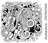 hippie vector doodles... | Shutterstock .eps vector #1937047045