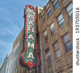 Small photo of BIRMINGHAM, ALABAMA - APRIL 29: Alabama Theatre April 29, 2014 in Birmingham, AL. Built by Paramount in 1927, it is the sole surviving venue in a once prominent theater district
