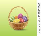easter eggs in the wooden...   Shutterstock .eps vector #1937059348