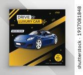 rent car for social media... | Shutterstock .eps vector #1937081848