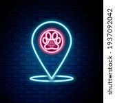 glowing neon line map pointer... | Shutterstock .eps vector #1937092042