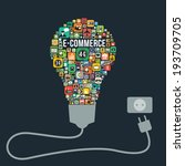 e commerce with bulb icons... | Shutterstock .eps vector #193709705
