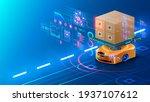 smart warehouse technology....   Shutterstock .eps vector #1937107612