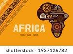 africa patterned map. banner... | Shutterstock .eps vector #1937126782