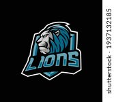 lions mascot logo design... | Shutterstock .eps vector #1937132185
