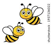 Cute Flying Bees. Bee Character....