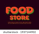 vector bright emblem food store.... | Shutterstock .eps vector #1937144902