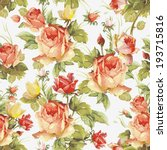 romantic seamless pattern with... | Shutterstock .eps vector #193715816