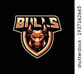 bulls mascot logo design... | Shutterstock .eps vector #1937162665