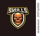 skulls mascot logo design... | Shutterstock .eps vector #1937162905