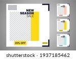 new set of editable minimal... | Shutterstock .eps vector #1937185462