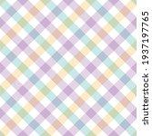gingham plaid pattern spring... | Shutterstock .eps vector #1937197765