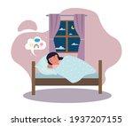 calm little cute girl is...   Shutterstock .eps vector #1937207155