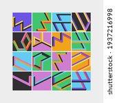 modern abstract geometric... | Shutterstock .eps vector #1937216998