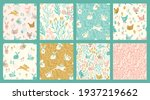 vector seamless patterns with... | Shutterstock .eps vector #1937219662