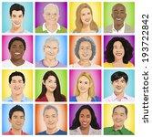 illustration of multiethnic... | Shutterstock .eps vector #193722842