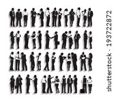 silhouettes of business people... | Shutterstock .eps vector #193722872