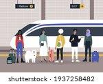 railway station  a diverse... | Shutterstock .eps vector #1937258482