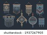 stylish bundle of macrame wall...   Shutterstock .eps vector #1937267905