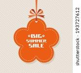 vector summery flower banner....   Shutterstock .eps vector #193727612