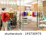 boutique display window with... | Shutterstock . vector #193730975