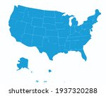 blue vector oil paint map of... | Shutterstock .eps vector #1937320288