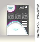 flyer  brochure or magazine... | Shutterstock .eps vector #193732502