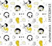 radio host flat vector... | Shutterstock .eps vector #1937328415