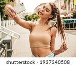 Beautiful Smiling Model In...