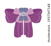 decorative purple bow with... | Shutterstock .eps vector #1937347168