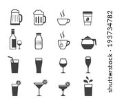 drink icon set | Shutterstock .eps vector #193734782