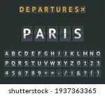 mechanical airport flip board... | Shutterstock .eps vector #1937363365
