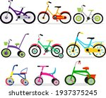 set of kids bicycles and...   Shutterstock .eps vector #1937375245