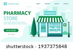 pharmacy store landing page.... | Shutterstock .eps vector #1937375848