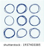 pen drawing circles vector set... | Shutterstock .eps vector #1937403385