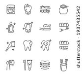 collection of dental care... | Shutterstock .eps vector #1937435542