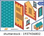 cut and glue cute paper house....   Shutterstock .eps vector #1937436802
