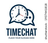 time chat vector logo template. ... | Shutterstock .eps vector #1937441818