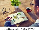 businessman brainstorming about ... | Shutterstock . vector #193744262