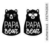 vector set with bears. papa... | Shutterstock .eps vector #1937442835