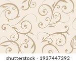 rolled ivy pattern beige...   Shutterstock .eps vector #1937447392