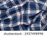 Crumpled Checkered Fabric....