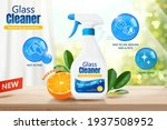 glass cleaner ad template in 3d ... | Shutterstock .eps vector #1937508952