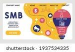 vector website design template .... | Shutterstock .eps vector #1937534335