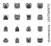 backpack collection vector... | Shutterstock .eps vector #1937560975