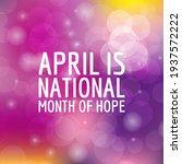 national month of hope.... | Shutterstock .eps vector #1937572222